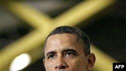 Prezident Barak Obama Viskonsində Orion Energy Systems şirkətinə səfərində yeni iş yerlərinin açılmasından danışır.