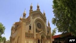 수단 수도 하르툼 인근의 성 마태오 성당 전경.