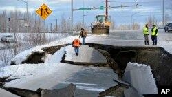 После ноябрьского землетрясения на Аляске (архивное фото)