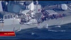 Chưa rõ nguyên nhân vụ đâm tàu ngoài khơi Nhật Bản