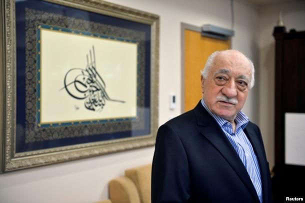 FILE - U.S.-based cleric Fethullah Gulen at his home in Saylorsburg, Pa., July 29, 2016.