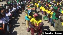 FILE: Some Zanu PF youth attending a party event in Harare.