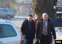 Goran Salihović sa braniocem Rifatom Konjićem dolazi na disciplinsko ročište, 27. januar 2017.