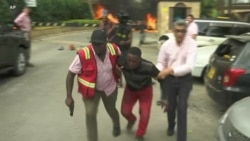 Kenya Rescue Workers Rush Victims to Safety