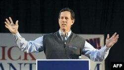 Ứng cử viên tổng thống Rick Santorum của đảng Cộng Hoà