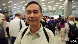 香港市民楊先生 (美國之音湯惠芸拍攝)