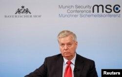 U.S Senator Lindsey Graham attends the 53rd Munich Security Conference in Munich, Germany, Feb. 19, 2017.