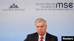 Thượng nghị sĩ South Carolina Lindsey Graham tại Hội nghị An ninh Munich, Đức, ngày 19/02/2017.