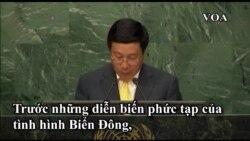 BT Ngoại giao Phạm Bình Minh: Tình hình Biển Đông đe dọa hòa bình thế giới.