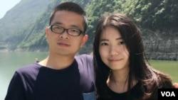 網絡圖片 獨立作家黎學文和女友律師黃思敏