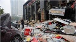 خبرگزاری رسمی شین هوا گزارش داد انفجار روز دوشنبه در رستورانی در طبقه اول یک ساختمان تجاری رخ داد. ۱۴ نوامبر ۲۰۱۱