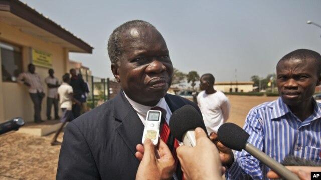 Jean Willybiro Sako, chef de la délégation centrafricaine aux pourparlers de Libreville (7 jan. 2013)