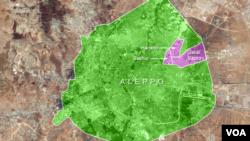 Sakhur, Hanano and Jabal Badro districts in Aleppo, Syria