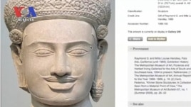 Cambodian officials say they are considering asking US museums for the return of their stolen objects.