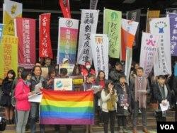 台湾80个公民团体召开联合记者会(美国之音张永泰拍摄)