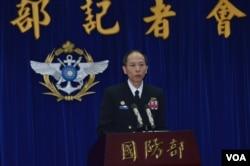 台湾国防部梅家树少将 (美国之音申华拍摄)