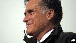 美國共和黨總統候選人羅姆尼星期一在維吉尼亞競選