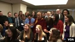 達賴喇嘛2月20日在華盛頓。