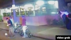 Imagen del video divulgado por la policía en que se ve cómo murió Ricardo Díaz Zeferino.
