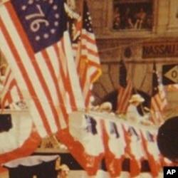 Queen Elizabeth II gives a speech on Wall Street, 9 July 1976