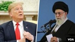 Presiden AS Donald Trump dan Pemimpin Tertinggi Iran Ayatollah Ali Khamenei
