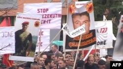 Protesta kundër arrestimit të pjesëtarëve të ish UÇK-së