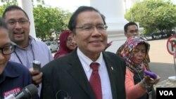 Menteri Koordinator Bidang Kemaritiman dan Sumber Daya Rizal Ramli. (VOA/Ahadian Utama)