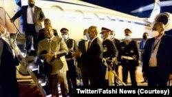 Président Félix Tshisekedi na nela na ye na likita lya SADC na Gaborone, Botswana, 26 novembre 2020. (Twitter/Fatshi News)