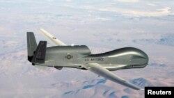 資料照:美國空軍的RQ-4全球鷹無人偵察機。