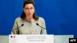 La ministre de la Solidarité et de la Santé, Agnes Buzyn, lors d'une conférence de presse à Paris, le 5 janvier 2018.