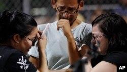 2008年8月4日沃尔玛员工周六大规模枪击事件后参加守夜组织