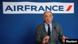 Jean-Marc Janaillac, Chief Executive Officer of Air France-KLM Group, attends a news conference in Paris, France, May 4, 2018.