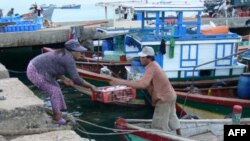 Tàu đánh cá của ngư dân ở tỉnh Quảng Ngãi