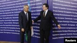 Yevropa Komissiyasi prezidenti Joze Manuel Barrozo, O'zbekiston rahbari Islom Karimov, Bryussel, 24-yanvar, 2011-yil