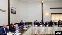 Prezident Administrasiyasının şöbə müdiri Əli Həsənovun partiyalarla görüşü - 13 dekabr 2014