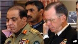 Zapovjednik oružanih snaga Pakistana, general Ashfaq Pervez Kayani i zapovjednik Združenog stožera američkih oružanih snaga admiral Michael Mullen (File)