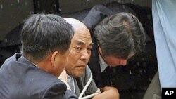 5일 한국 귀환 직후 체포된 노수희 범민련 남측 부의장.