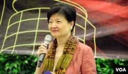 香港公民黨前主席余若薇。(美國之音湯惠芸)