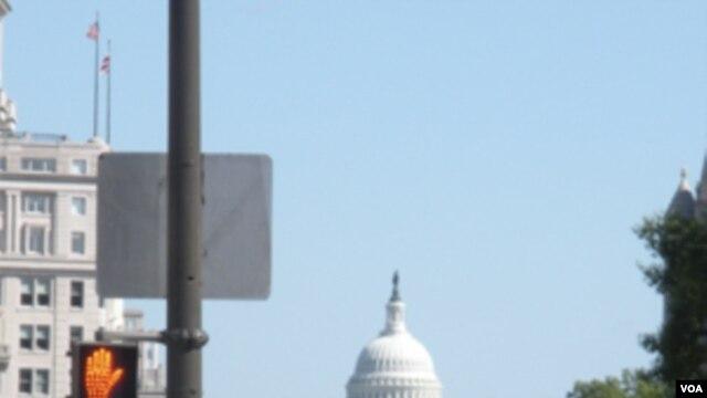 Musim panas di Washington D.C suhunya bisa mencapai 40 derajat Celcius.