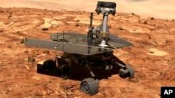 Wahana penjelajah NASA di planet Mars, 'Opportunity', masih terus berfungsi dan sudah 10 tahun melakukan tugasnya sejak mendarat di Mars 24 Januari 2004 (foto: ilustrasi).