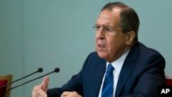 El canciller ruso, Sergei Lavrov, defendió la campaña aérea de su país en Siria.