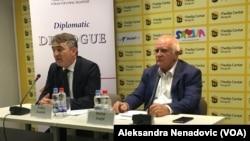 Predsedavajući Predsedništva BiH Željko Komšić i direktor Foruma za etničke odnose Dušan Janjić