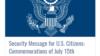 US Turkey Embassy Security Message