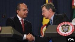 """Calderón dijo que """"respetaba"""" el acuerdo militar entre Colombia y EE.UU. en función de su soberanía y de la necesidad de sus ciudadanos."""
