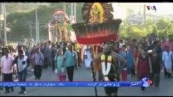 فستیوال تایپوسان با رنگ آمیزی بدن در مالزی