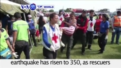 VOA60 World - Ecuador: The death toll from a massive earthquake has risen to 350