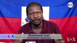 Rosemond Jean FRONORHSD Denonse Moun li Di Ki Ame Anndan Manifestasyon Opozisyon an