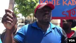 An anti-US protest leader says America has no right to interfere in Haiti's politics. (Matiado Vilme/VOA Creole)
