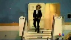 2014-04-23 美國之音視頻新聞: 奧巴馬已抵達日本