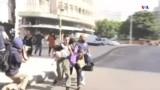 Բեյրութի Թայունե թաղամասից ընտանիքը փախչում է ինտենսիվ հրաձգության բախումների ժամանակ
